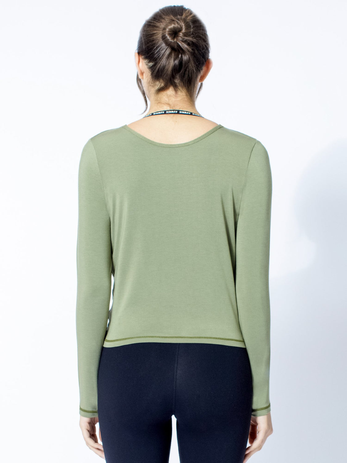 LONG SLEEVE TWIST TEE, SAGE