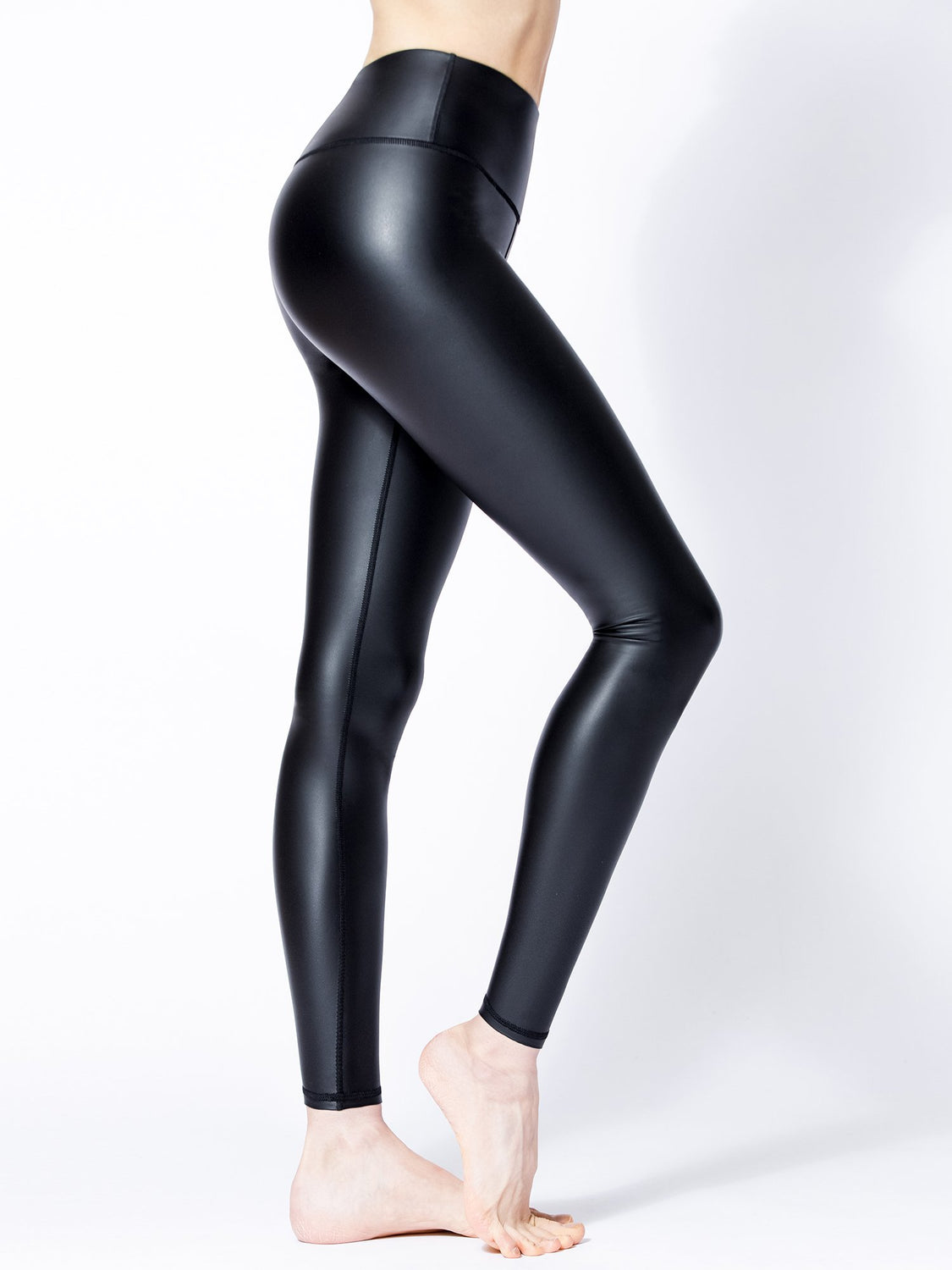 SHINE PANTS WITH FLEECE, BLACK