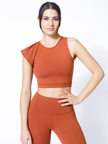 LILY CROPPED TOP, MAPLE