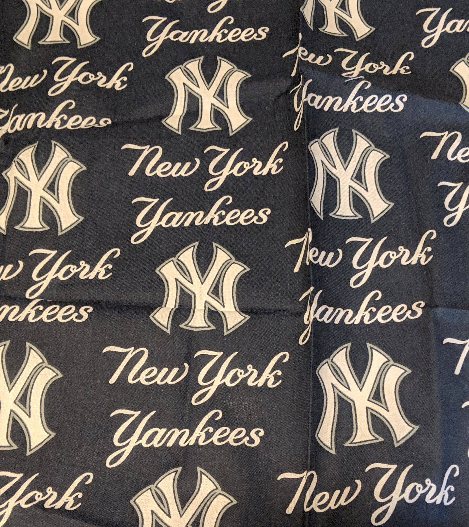 NY Yankees Messy Denim