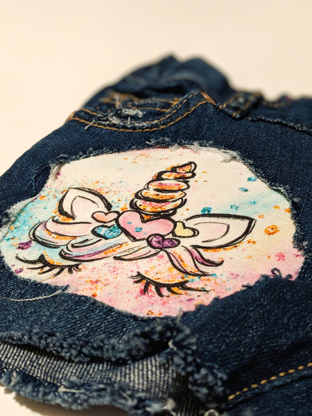 Unicorn Messy Denim Jeans
