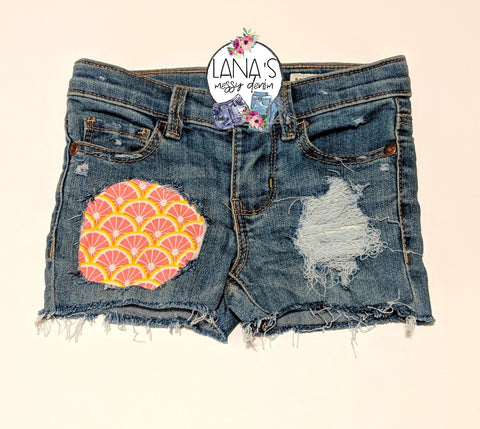 Pink Lemonade Messy Denim