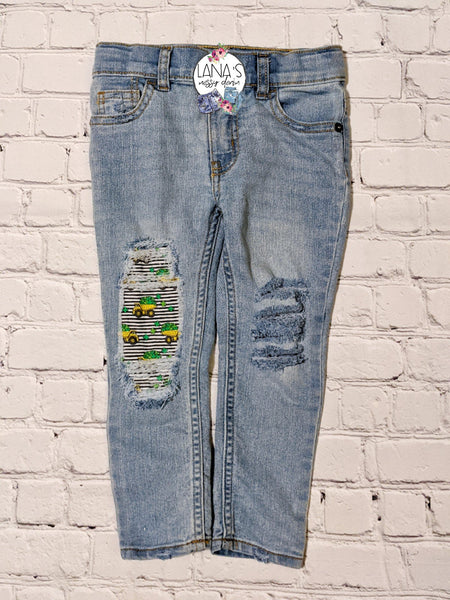 Loads of Luck Messy Denim