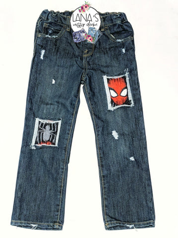 Spiderman Messy Denim