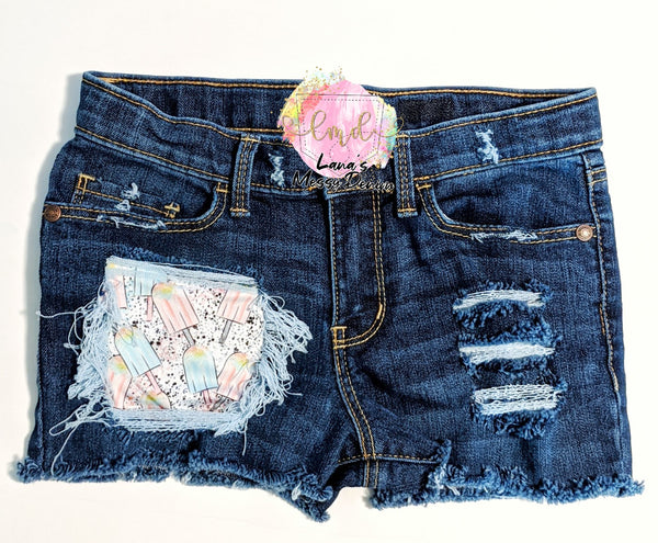 Popsicle Splatter Messy Denim
