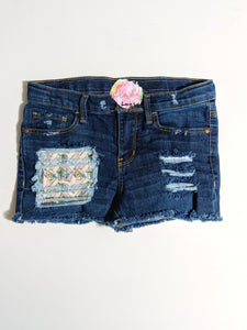 Tie Dye Camera Messy Denim Shorts