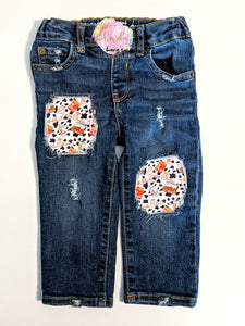 Chick-fil-A Messy Denim Jeans