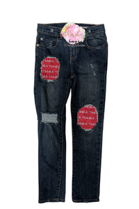 Thick-Fil-a Messy Denim Jeans