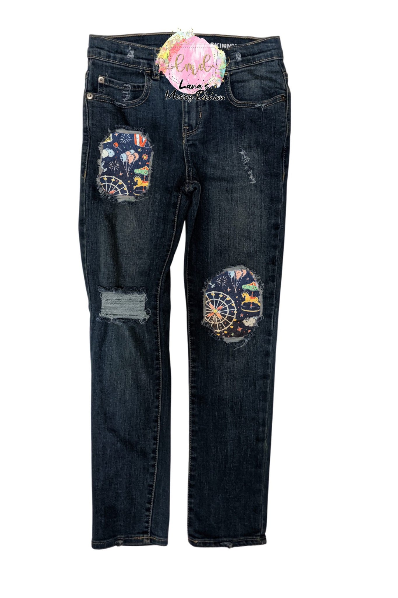 Circus Fun Messy Denim