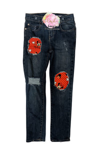 Minnie Mouse Messy Denim