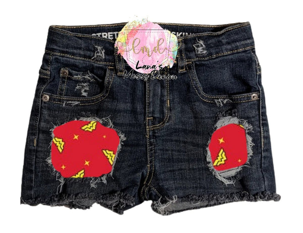 Wonder Woman Messy Denim