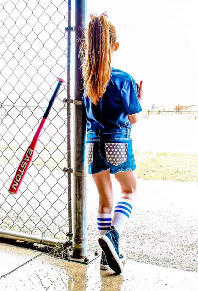Play Ball Messy Denim Shorts