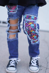Jack & Sally NBC Messy Denim Jeans