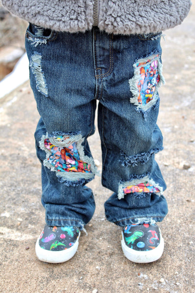 Magical Character Messy Denim