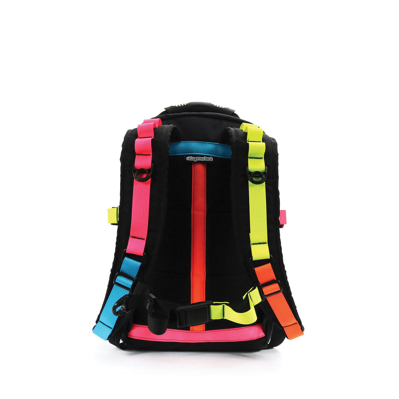 skingrowsback compak 16 litre backpack neon back