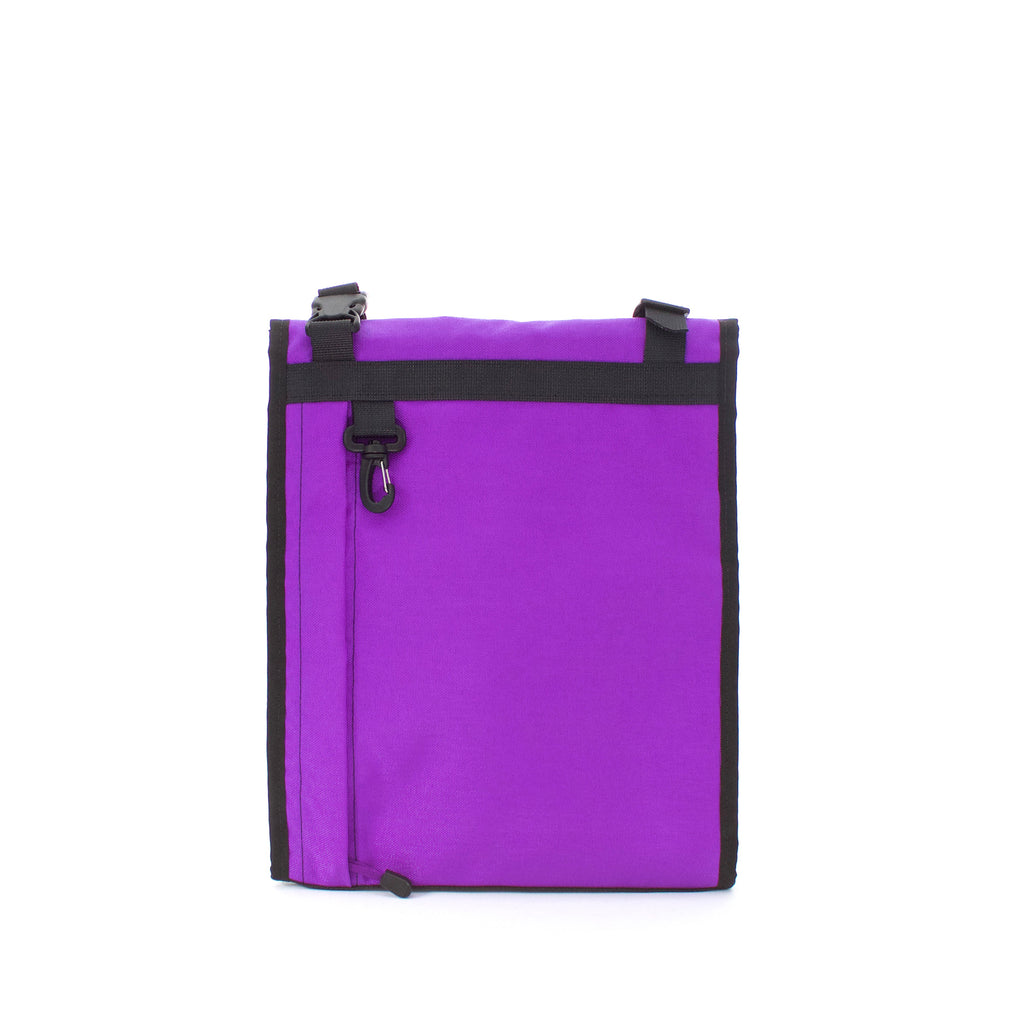 skingrowsback velodrome chainring bag track cycling purple back