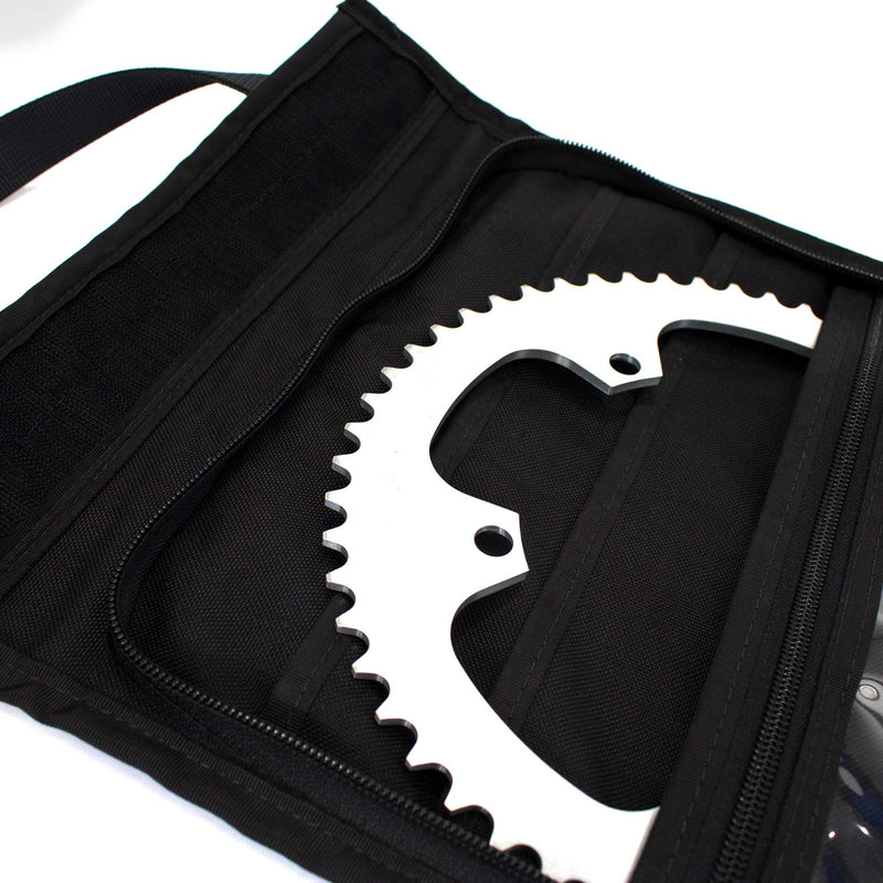 skingrowsback velodrome chainring bag track cycling imperial red 56T