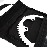 skingrowsback velodrome chainring bag track cycling neon orange 56T