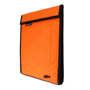 skingrowsback velodrome chainring bag track cycling neon orange side