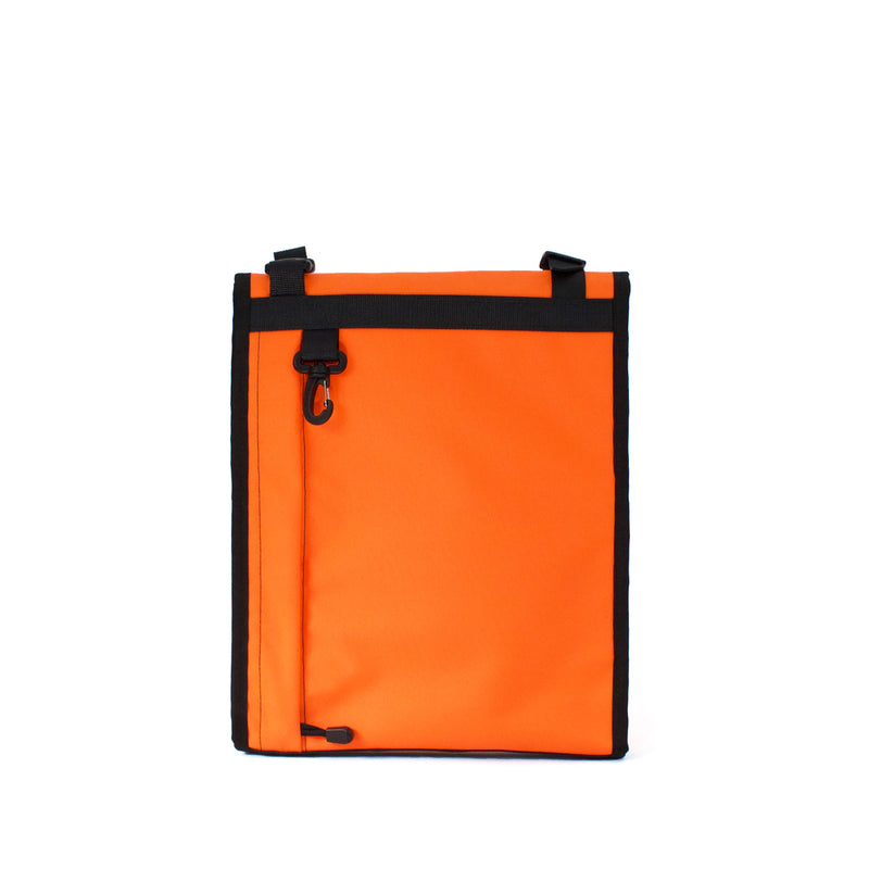 skingrowsback velodrome chainring bag track cycling neon orange back