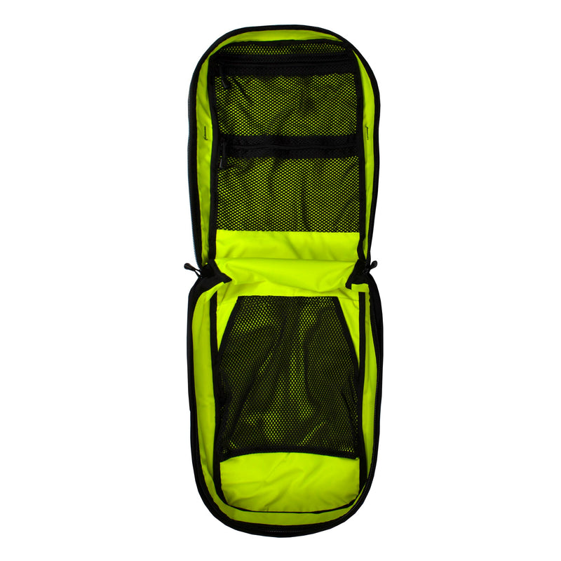 skingrowsback compak 16 litre backpack neon yellow interior