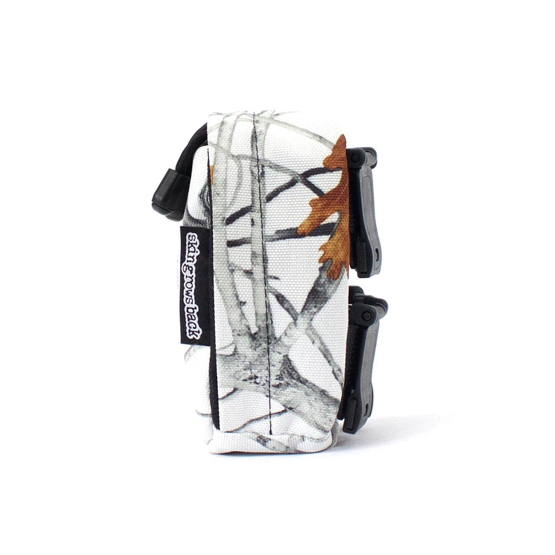 skingrowsback cube mini modular pouch snowfall side