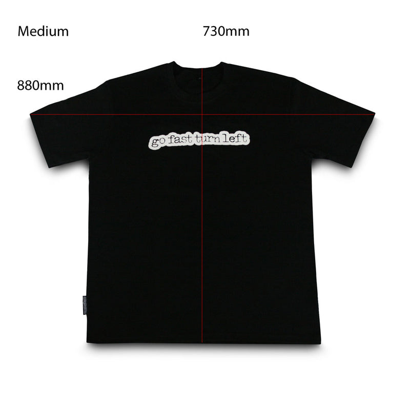 skingrowsback go fast turn left t-shirt black medium
