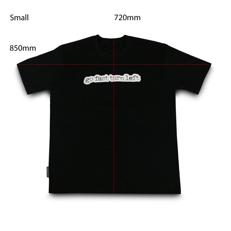 skingrowsback go fast turn left t-shirt black small