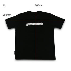 skingrowsback go fast turn left t-shirt black xl