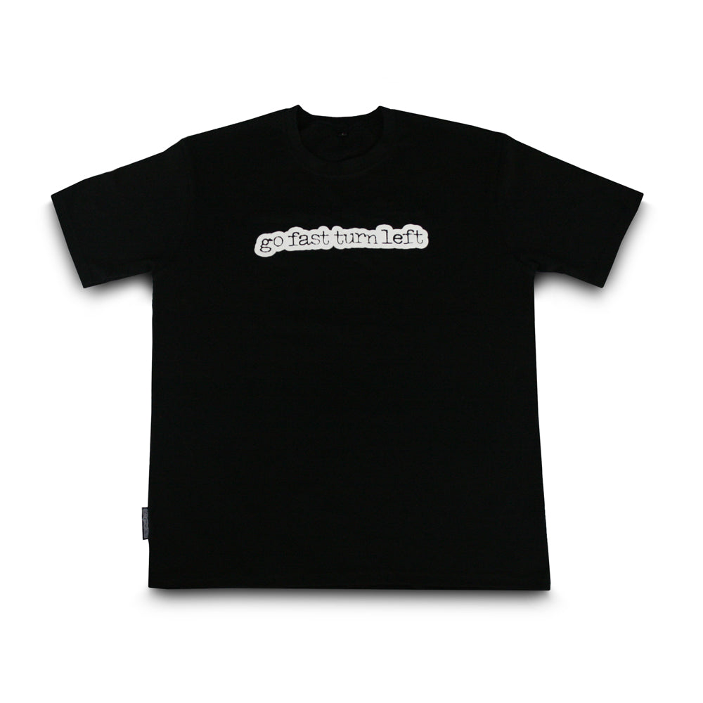 skingrowsback go fast turn left t-shirt black