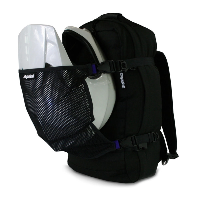 helmet scoop carry helmet on backpack example