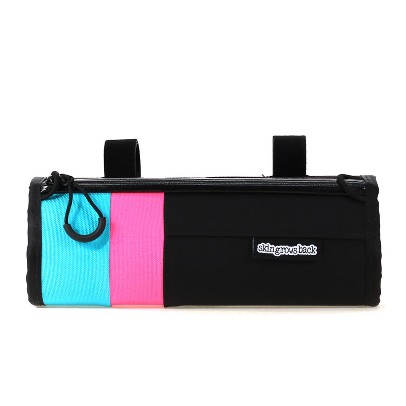 skingrowsback little lunch cycling handlebar bag custom stripes