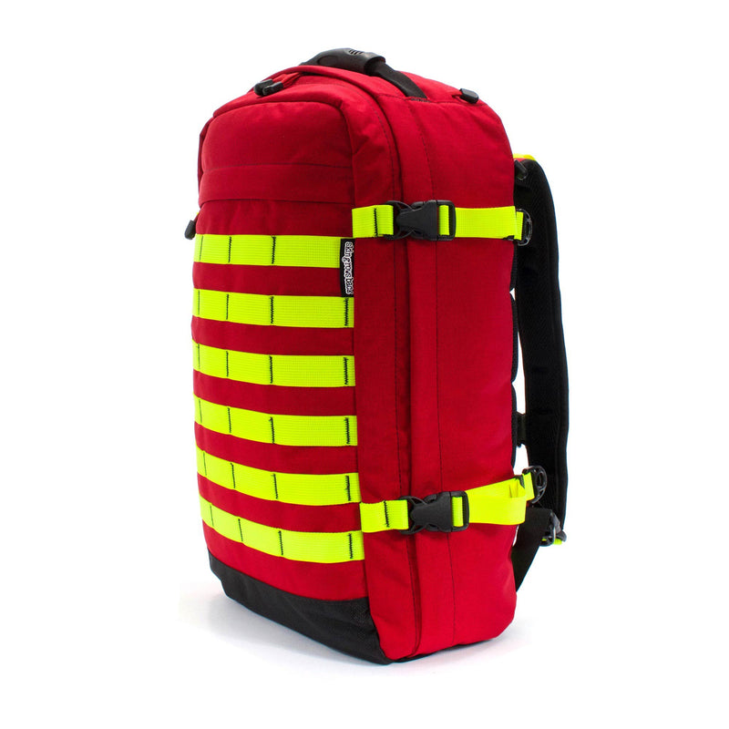 skingrowsback pak30 30 litre backpack custom imperial red neon yellow