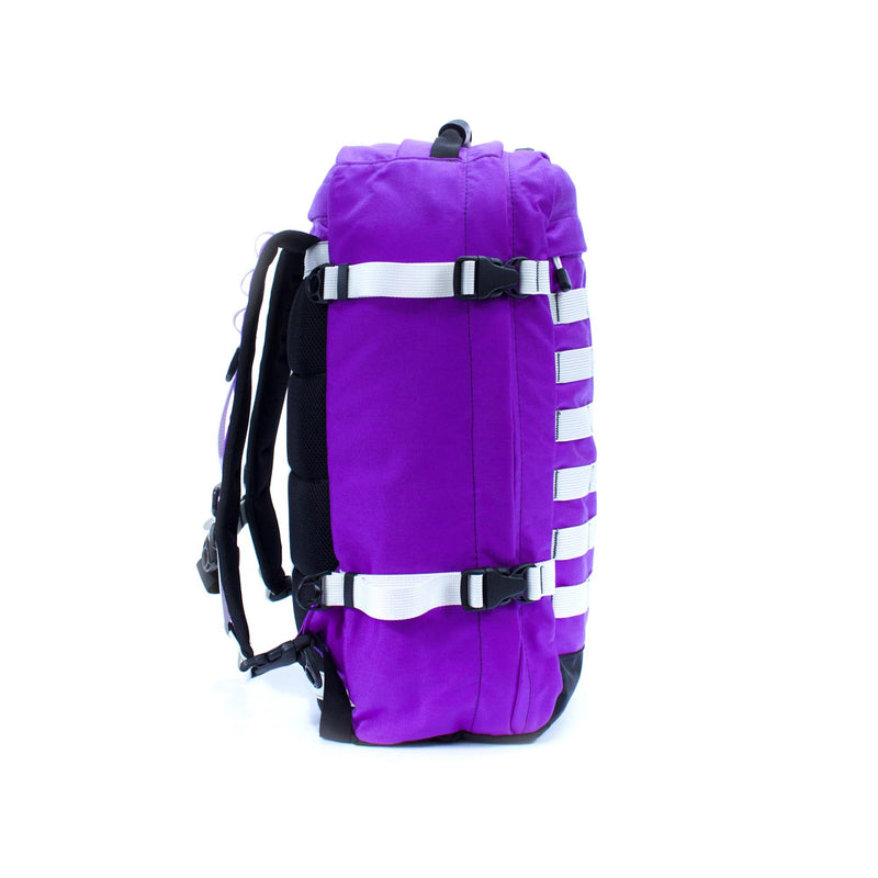 skingrowsback pak30 30 litre backpack custom purple rain left