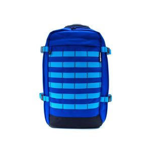 skingrowsback pak30 30 litre backpack custom royal blue aqua