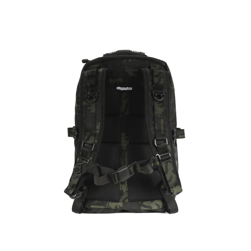 skingrowsback MIDPAK 23 litre backpack multicam black back