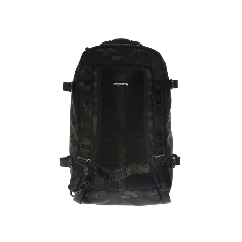 skingrowsback PAK30 30 litre backpack Multicam Black camo back