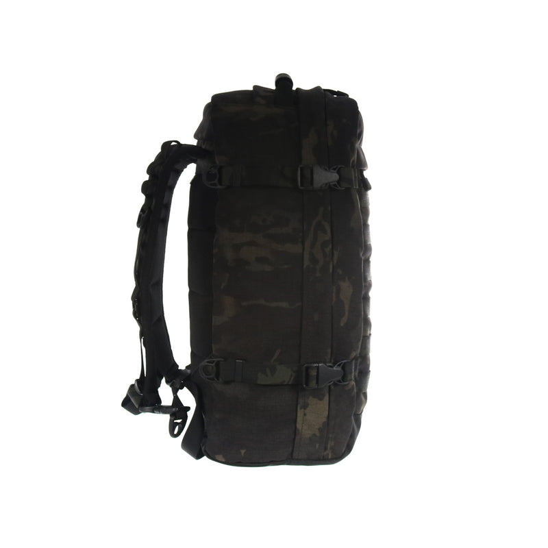 skingrowsback PAK30 30 litre backpack Multicam Black camo left