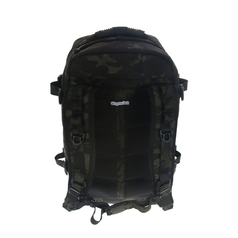 skingrowsback PAK30 30 litre backpack Multicam Black camo top