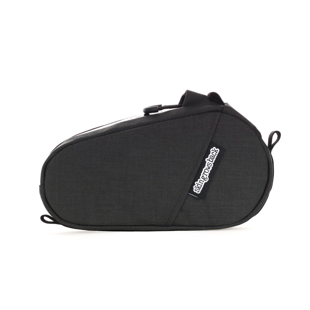 skingrowsback amigo top tube bag grey gravel bike