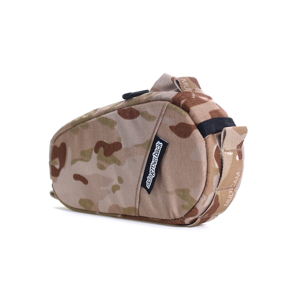 skingrowsback amigo top tube bag gravel cycling adventure bike multicam arid camo