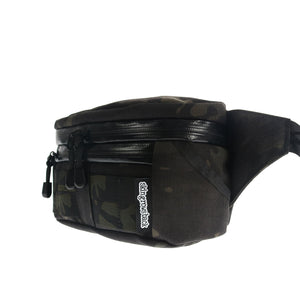 skingrowsback b double bum bag MultiCam Black black camo side