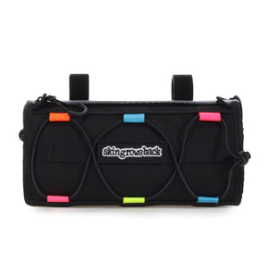 skingrowsback lunch box handlebar bag combo cycling neon