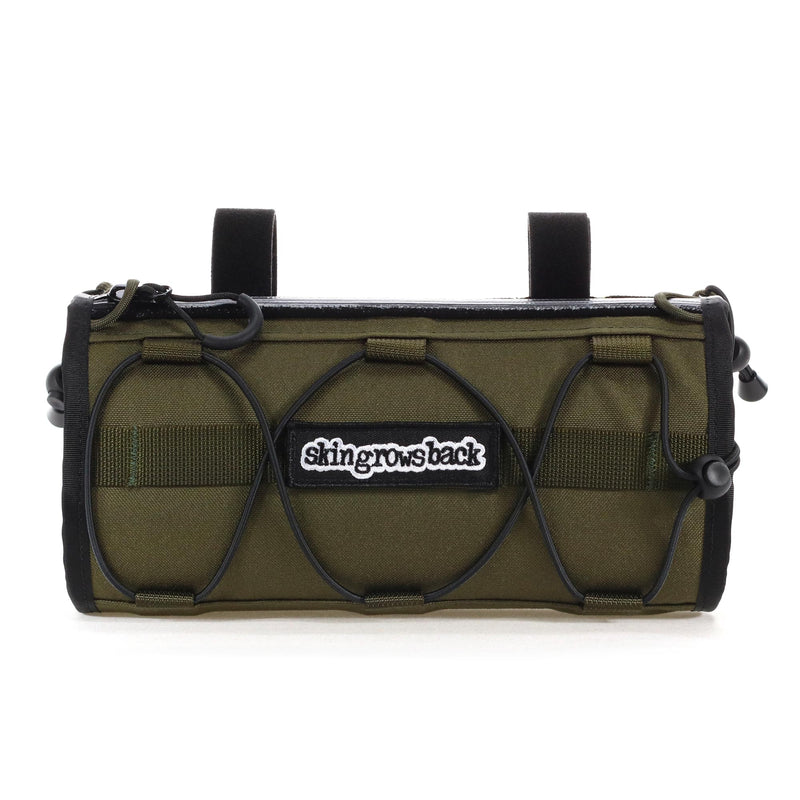 skingrowsback lunch box handlebar bag  combo gravel cycling olive