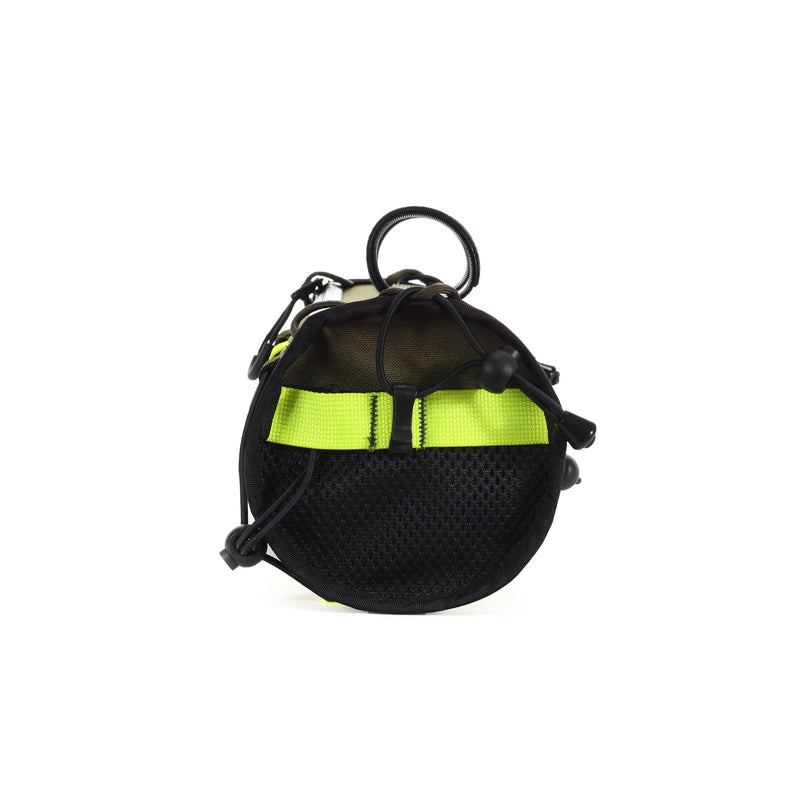 skingrowsback lunch box handlebar bag gravel cycling made in australia olive neon yellow