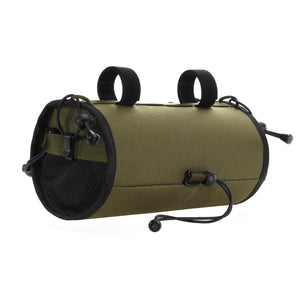 skingrowsback lunch box handlebar bag gravel cycling made in australia olive