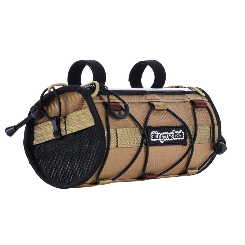 skingrowsback lunchbox handlebar bag gravel cycling made in australia rattlesnake