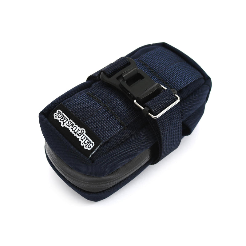 skingrowsback plan b cycling saddle bag navy label
