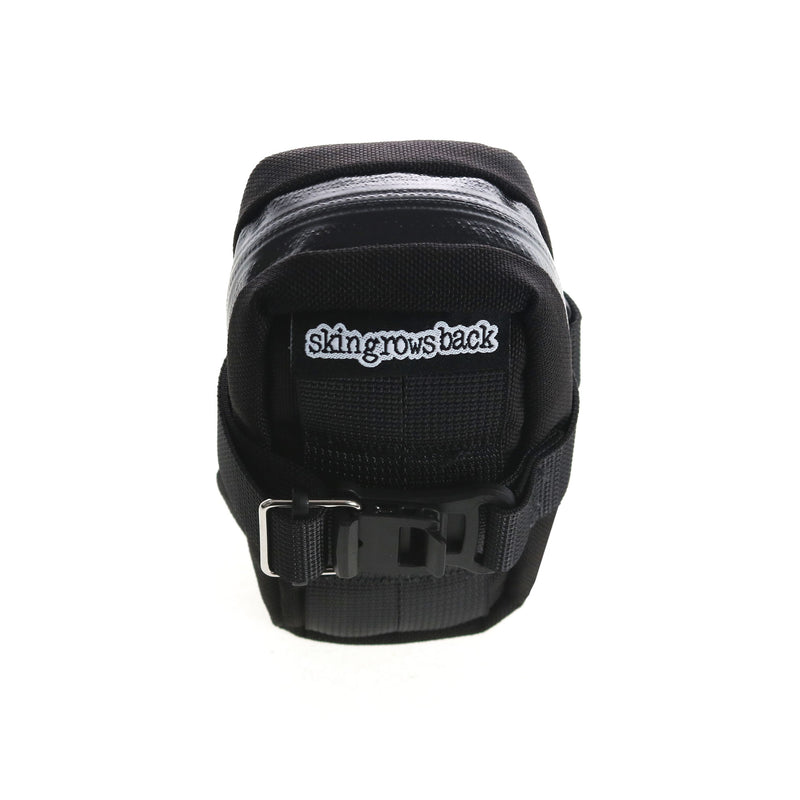 skingrowsback Plan B cycling saddle bag Black back