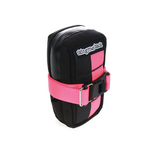 skingrowsback plan b cycling saddle bag neon pink d